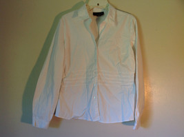 Chadwicks Collection Size Large White Button Up Stretch Long Sleeve Shirt