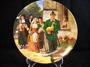 "Charles Gehm ""The Golden Goose"" Collectible Plate"