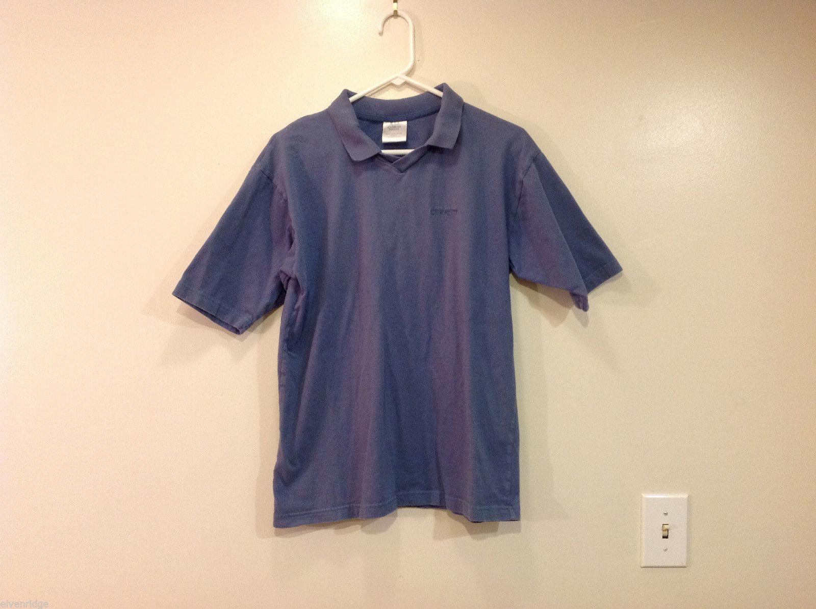 Cerruti Image Soft Blue 100% Cotton Polo T-Shirt, One Size (see measurements)