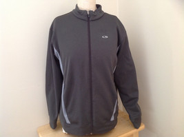 Champion Gray Zip Up Track Jacket Heather Gray Stripes Made in Jordon Size XL