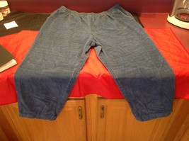 Blue Corduroy Alfred Dunner Ladies Pants Size 22W image 5