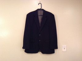 Chaps Black Size 42R Fully Lined Suit Jacket Blazer Two Button Closure