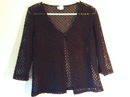 Charlotte Russe Black 100 Percent Nylon Shirt Size Large See Through image 1