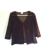 Charlotte Russe Black 100 Percent Nylon Shirt Size Large See Through - $39.99