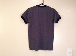 Blue Gray with Dark Blue Trim Short Sleeve T Shirt Turkey Embroidered Size Small image 2