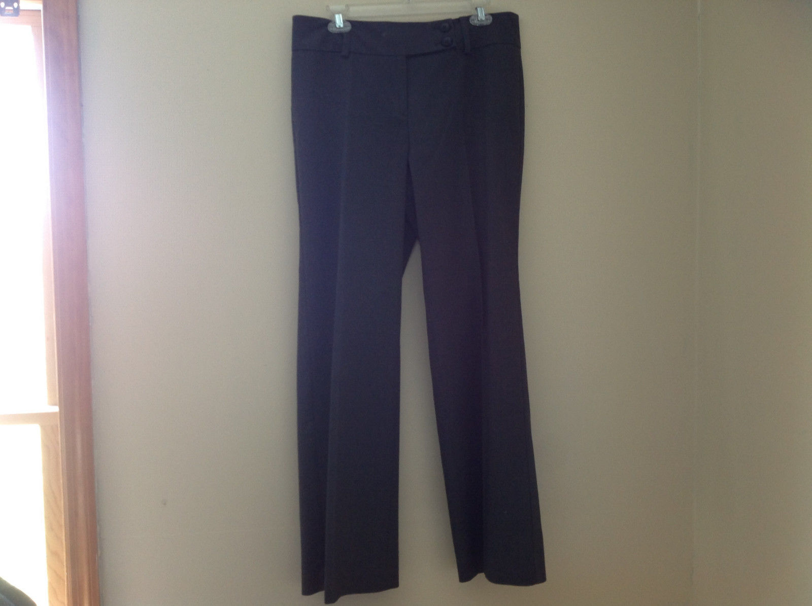 Charcoal Gray Dress Pant by Ann Taylor Zipper Double Button Closure Size 10