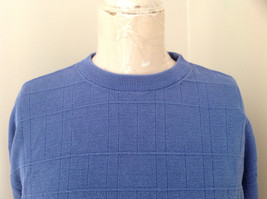 Blue Grid Patterned Silk Long Sleeve Shirt Anthology Made in China Size Large image 2