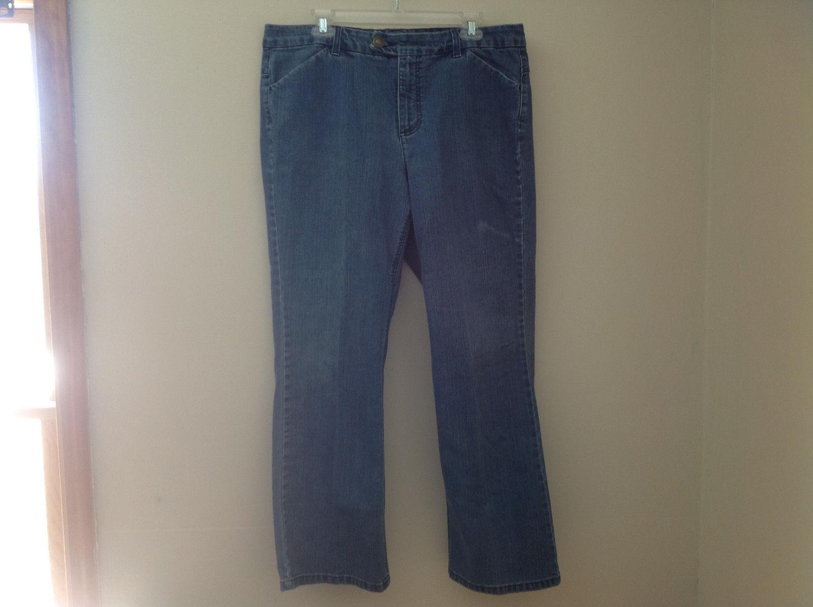 Charter Club Boot Cut Blue Jeans 4 Pockets Zipper 2 Button Closure Size 16W