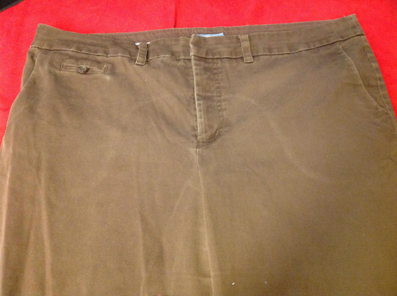 Cherokee Ladies Long Dark Brown Pants Size 18