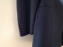 Blue Pin Striped Matching Jacket and Pants by Mossimo See Measurements Below image 3