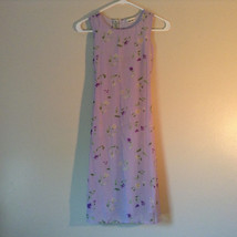 Cherokee Light Purple with Flowers Sleeveless Dress Perfect for Summer Size M8