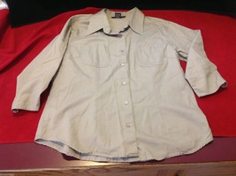 Chelsey & Jack blouse 3/4 sleeve women's light colored textured size small