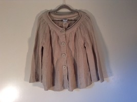 Chicos 100 Percent Cotton Sizes 1 Light Brown Knitted Long Sleeve Sweater