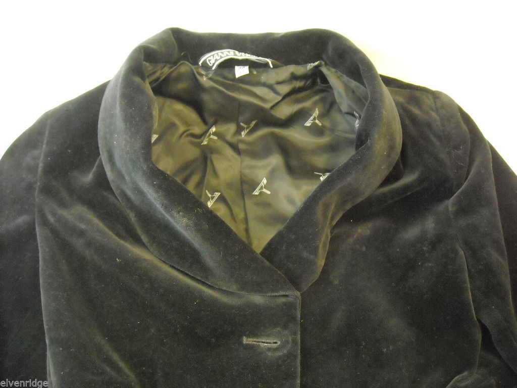 Child's jacket by G.Versace Black Velvet Made in Italy