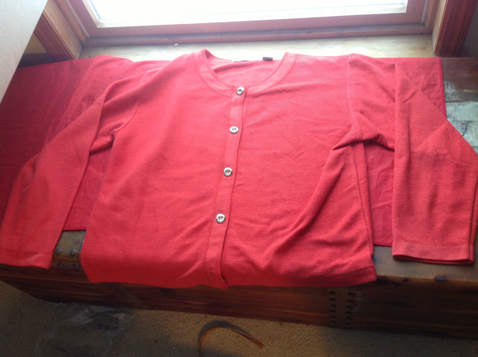 Chinawear Red Long Sleeve Sweater Size L with Matching Long Pants Size L