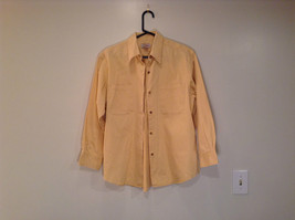 Chinos American Classic Size M 100 Percent Cotton Long Sleeve Yellow Shirt