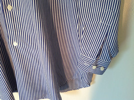 Blue and White Striped Button Down Collared Shirt SKYR 1 Front Pocket Size M image 5