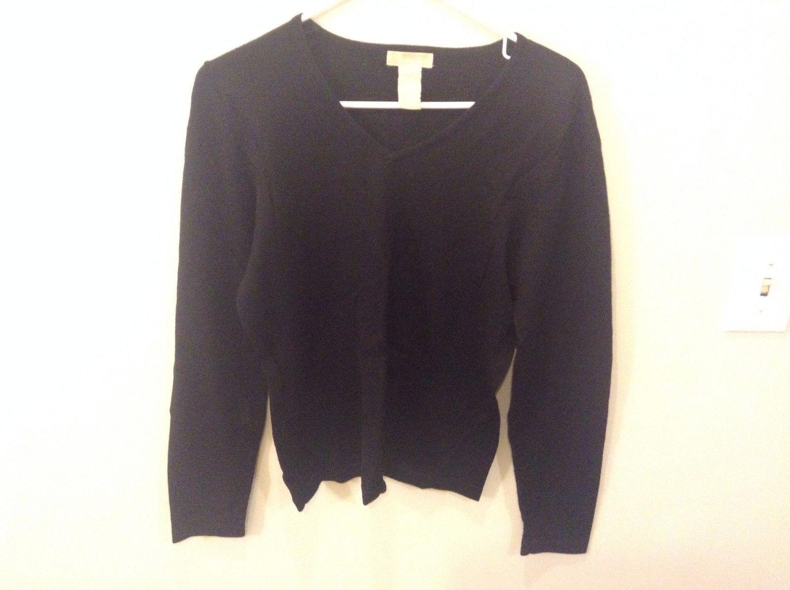 Christina Men's Black Sweater Long Sleeve Morino Wool