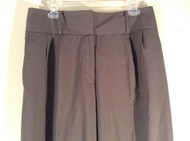 Body by Victoria Size 14 Short Dark Gray Pleated Dress Pants Wide Waistband image 3