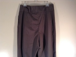 Body by Victoria Size 14 Short Dark Gray Pleated Dress Pants Wide Waistband image 4