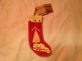 Christmas Ornament Red Stocking with Toys Christmas Tree Bells Felt Stocking