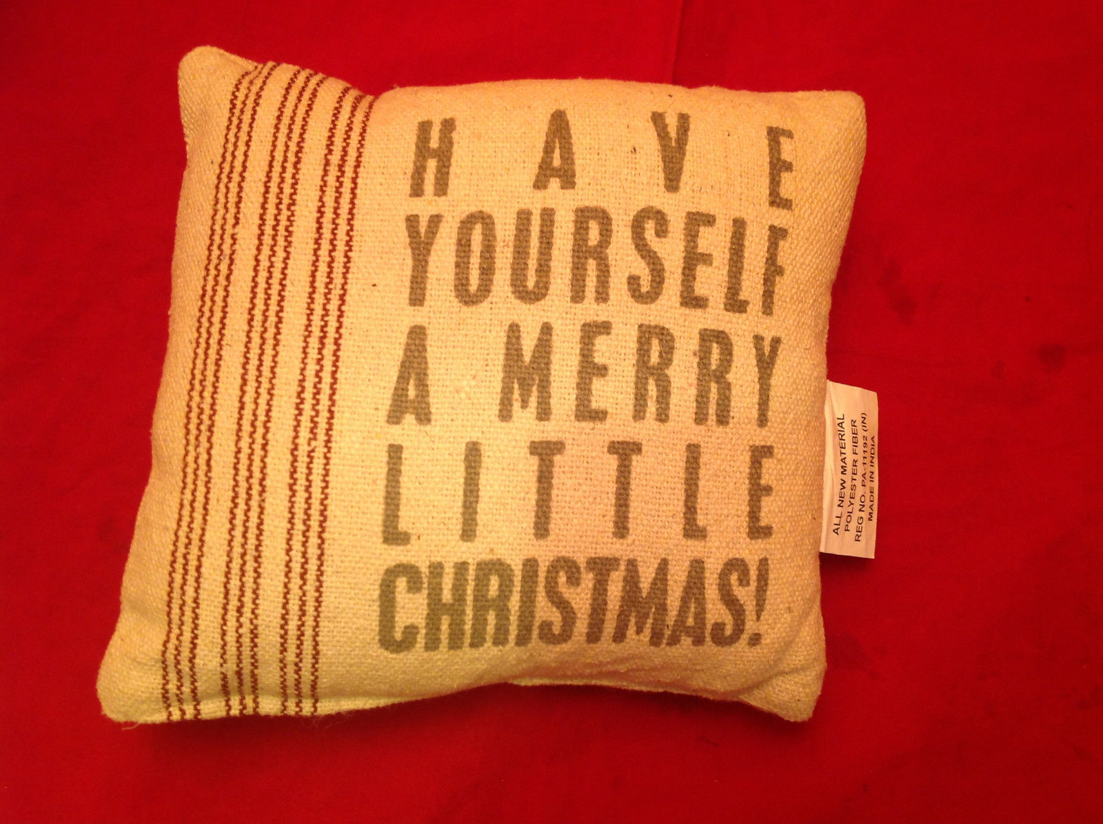 Christmas Pillow Have Yourself a Merry Little Christmas Polyester Fiber
