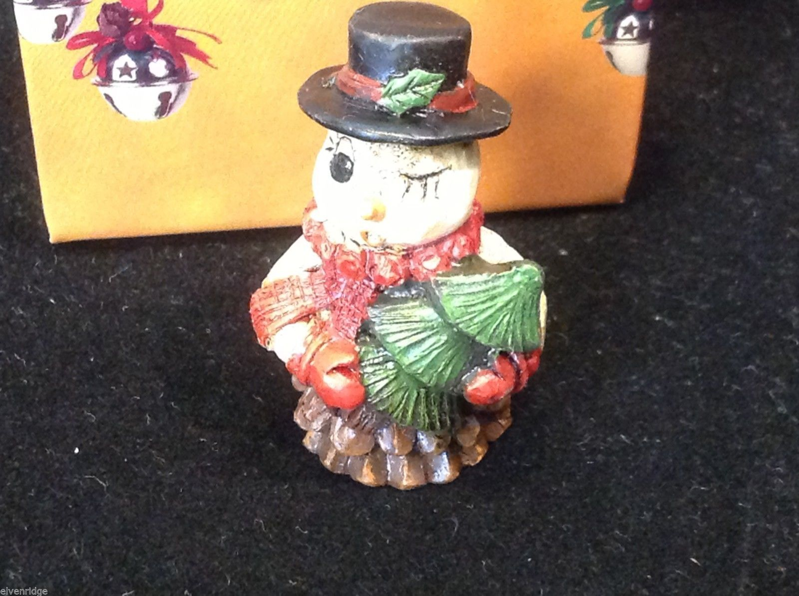 Christmas bag Snowman w pine tree  perfect gift 4 shut ins elderly person