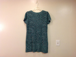 Bobbie Brooks Knitted Green White Black T-Shirt Dress or Long Sweater, Size 2X image 2