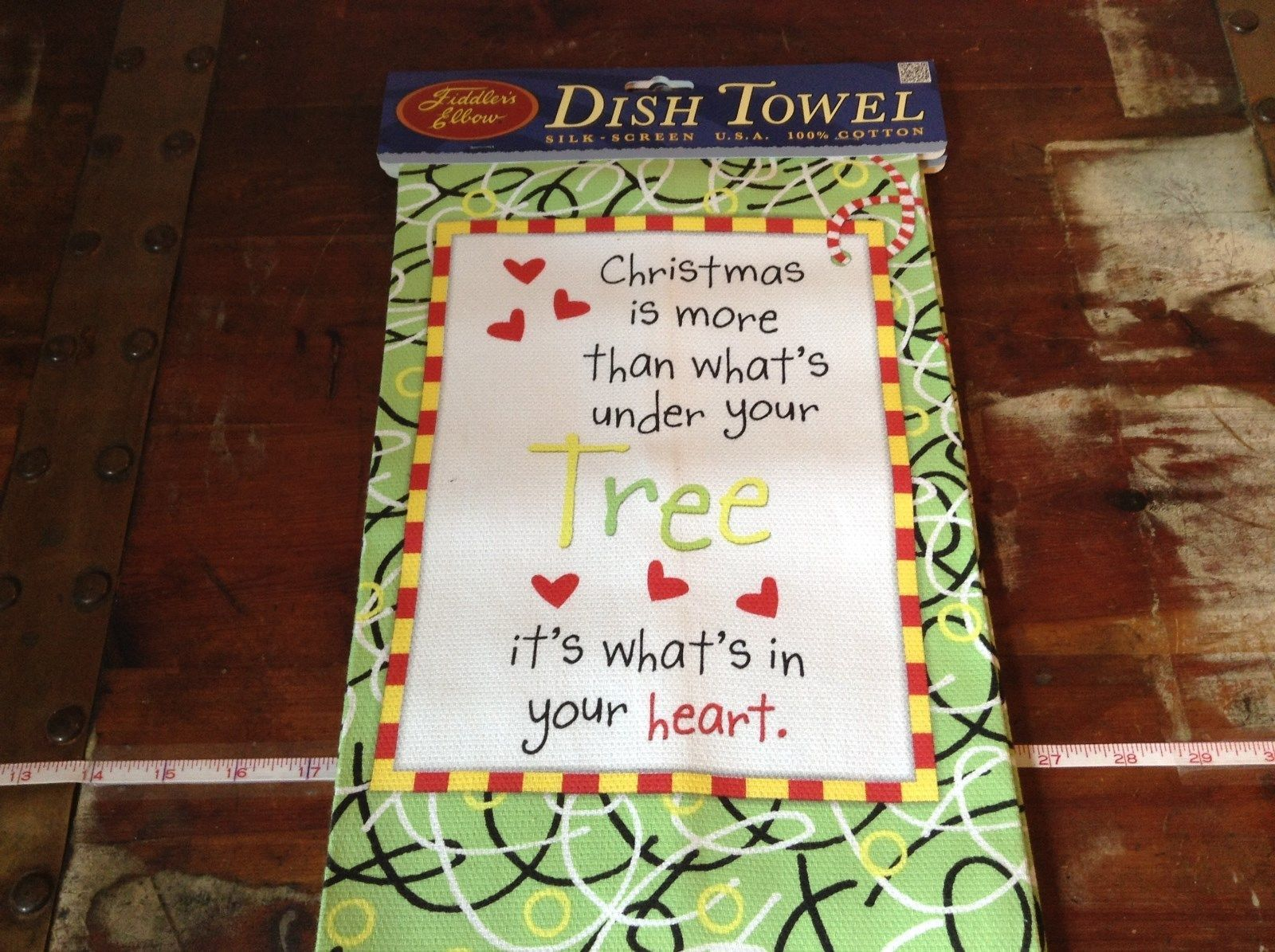 Christmas is More That What's Under the Tree it's What in Your Heart Dish Towel