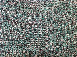 Bobbie Brooks Knitted Green White Black T-Shirt Dress or Long Sweater, Size 2X image 5