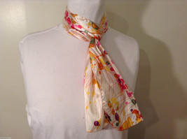 """Circles and Lines"" summer bright multi colors Scarf"