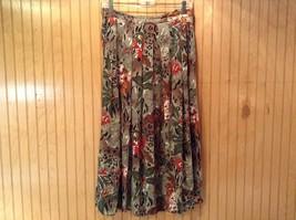 Boston Traveler Flowered Skirt and Jacket Set Size Medium Long Sleeves image 2