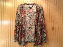 Boston Traveler Flowered Skirt and Jacket Set Size Medium Long Sleeves image 3
