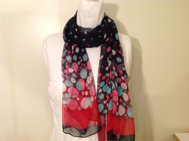 """Circles and Dots"" Summer Sheer Fabric Multicolor Scarf, colors of your choice image 1"