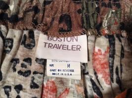 Boston Traveler Flowered Skirt and Jacket Set Size Medium Long Sleeves image 5