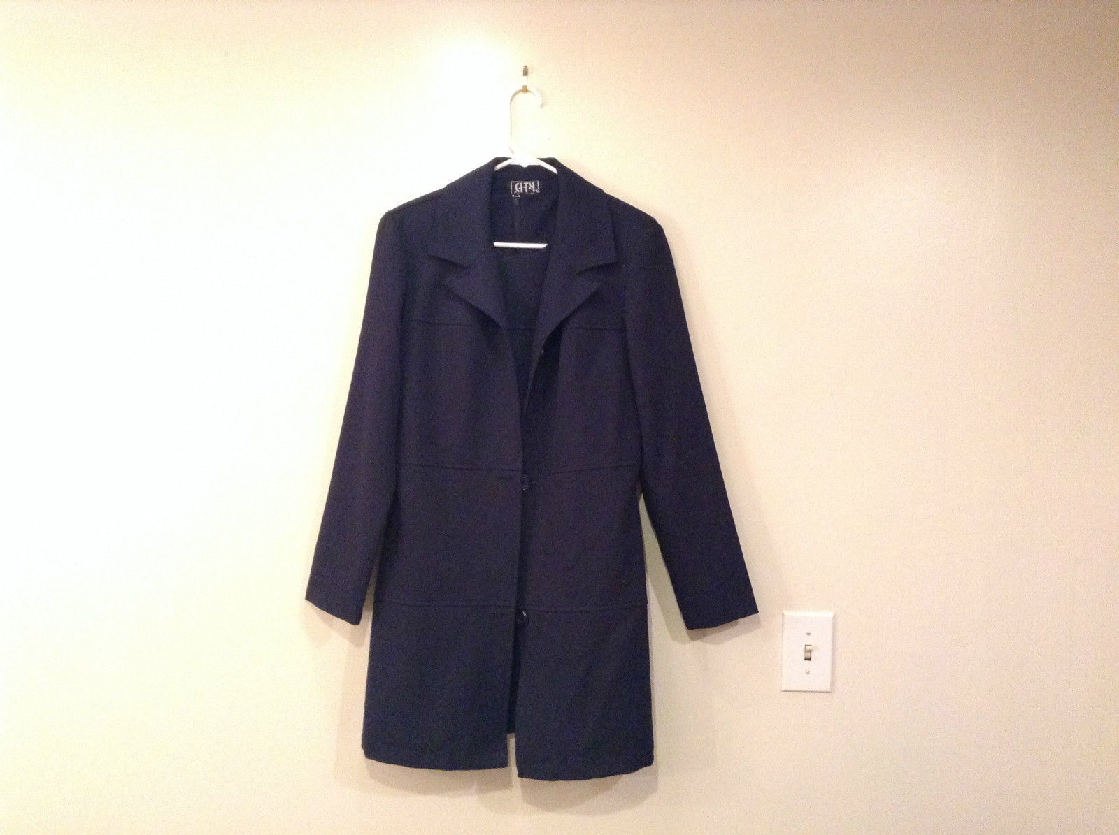 City Triangles Navy Blue Long Sleeve Jacket and Sleeveless Set Dress Size 11