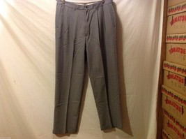 Claiborne Mens Gray Pinstriped Dress Pants, Size 38X32 image 1