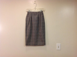 Classic Black White Plaid Fully Lined Below knee Length Pencil Skirt, Size 6 image 1