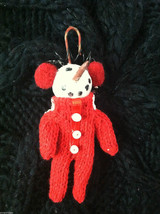 Box of 6 Cute Little Snowmen in Red Knit Sweaters - Christmas Ornaments image 6
