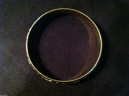 Brass Bracelet with Pink Leaf and Filigree Design image 3