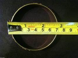 Brass Bracelet with Pink Leaf and Filigree Design image 4