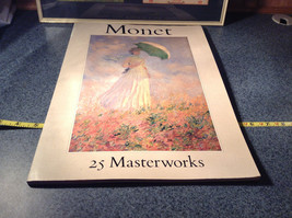 Claude Monet 25 Master Works Large Book Very Very Good Condition Printed 1982