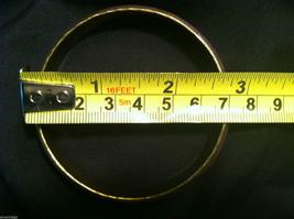 Brass Bracelet with Purple Enamel Cross and Chevron Design image 4