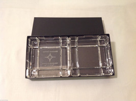 Clear Glass Coin Jewelry Tray Holder Ashtray dish top & bottom Rhinebeck Bank - $39.99