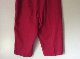 Bright Red Capri Shorts by D and Company Two Pockets Stretchy Size XL image 5