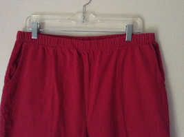 Bright Red Capri Shorts by D and Company Two Pockets Stretchy Size XL image 2