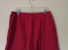 Bright Red Capri Shorts by D and Company Two Pockets Stretchy Size XL image 4