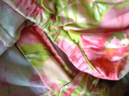 Bright Tropical Casual Pants Valerie Stevens Pink Green Flowers Capris Size 18W image 11