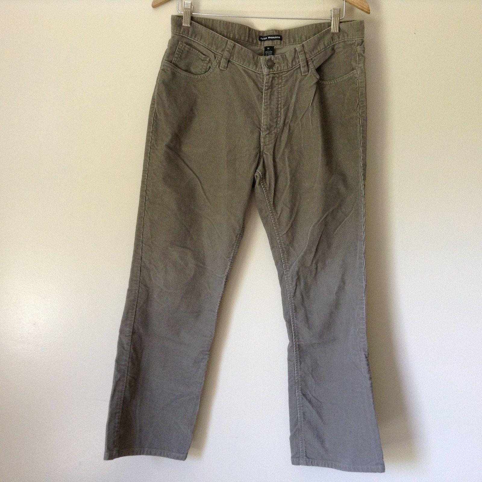 Club Monaco Light Brown Casual Pants 100 Percent Cotton Size 32