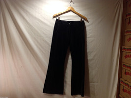Clothes by H&M Black Wide Legged Velvety 100% Cotton Pants, Size 4 image 1
